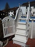 Poolzon Kunststoffeinstieg Easy-Step 4x4 Safety, Kunststofftreppe, Komforteinstieg