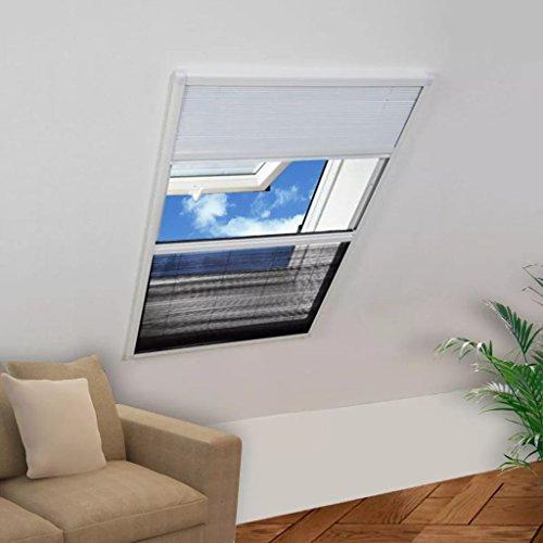 SHENGFENG Questo Zanzariera Plissettata in Alluminio 60x80 cm con Tendina. Design Semplice e Facile da Usare