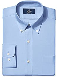 Buttoned Down Classic Fit Button-Collar Solid Pinpoint Non-Iron Dress Shirt