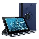 kwmobile Funda compatible con Sony Xperia Tablet Z - Carcasa de cuero sintético para tablet en azul...