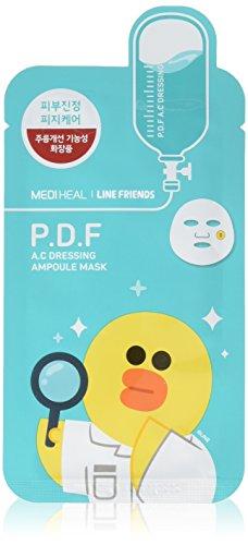 Mediheal Line Friends P.D.F A.C Dressing Ampoule Face Mask Sheet 27ml X 10pcs by Mediheal - Sebum Control Serum