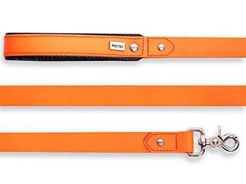 pettec-lead-line-2m-made-of-trioflex-tm-orange-weatherproof-water-resistant-robust-dog-leash