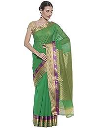 The Chennai Silks - Silk Cotton Saree - Green - (CCMYSC7087)
