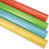 4er Rollen Set Unifarben einfarbig gelb blau rot gruen usw. modernes Geschenkpapier 200 x 70 cm verschiedene Designs