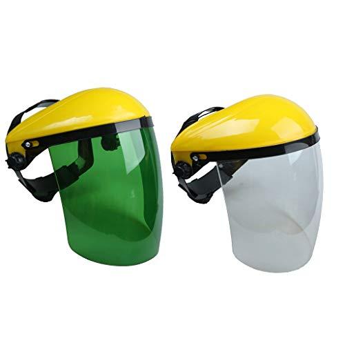 SM SunniMix 2 Stück Schutzhelm mit Kunststoff Gesichtschutz Maske, hohe Qualität