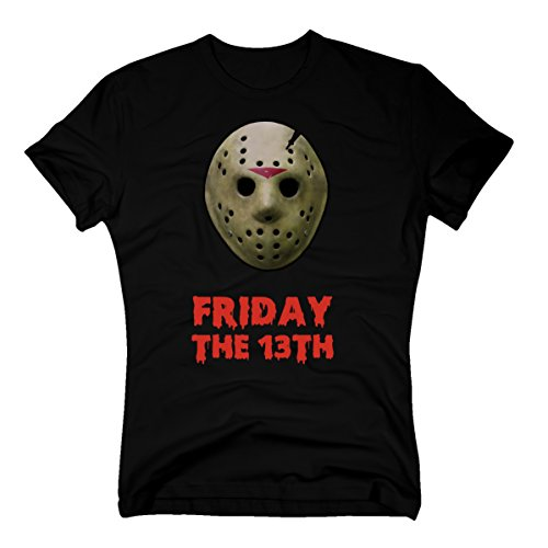 T-Shirt Jason Friday 13th Horror Halloween schwarz, S