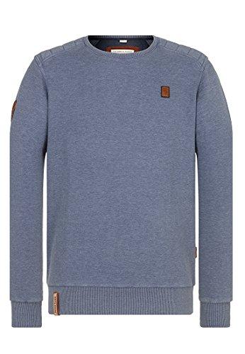 Naketano Male Sweatshirt First Blood VI Heritage Bluegrey Melange