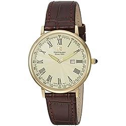 """Reloj de vestir de acero y cuero de cuarzo suizo de la colección """"Altdorf Collection"""" de Steinhausen, color: marrón (modelo: S0124)"""