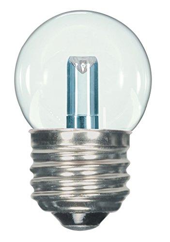 Satco S9160 LED S11 2700K mittlere Base Glühbirne, 1,2W klar