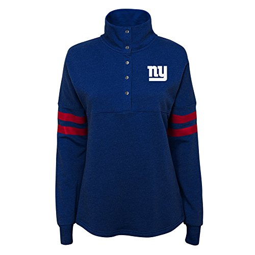 NFL by Outerstuff NFL New York Giants Junior Classic Throw Varsity 1/4 Snap Pullover Top Dark Royal, Junior XL (38-17) Varsity Snap