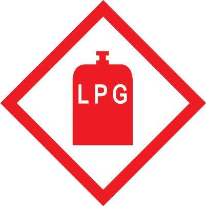 Price comparison product image pack of 2 LPG gas sticker for caravan car motorhome campervan 100mm x 100mm