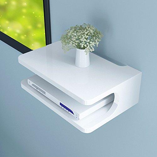 Die Set-top-Box TV Regal Wand Schränke Wohnzimmer Rack Wandmontage Wandregal Schlafzimmer Stirnwand router Patrone zugeben, Weiß