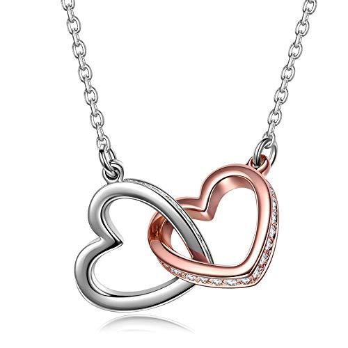 Kami Idea Damen Kette mit Swarovski Steinen Gold Plattiert Herz Halskette mit Anhänger Schmuck zum Geburtstag Jubiläum Valentinstag Mutter Frau Tochter Mädchen Sie ()
