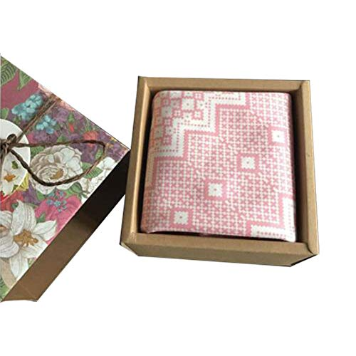 Chinashow Womens/Girls Vintage Floral Print Baumwolle Taschentücher Floral Taschentuch mit Geschenkbox A08