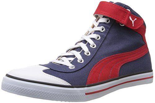 Puma Men's 917 Mid 2.0 Insign Blue, White and Hi Risk Red Mesh Boat Sneakers- 7 UK/India (40.5 EU)  available at amazon for Rs.2159