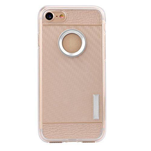 Ouneed® Für iPhone 7 Hülle, Thin Soft Protection Silicone Gel Case Cover For IPhone 7 4.7 Zoll (Gold) Silber