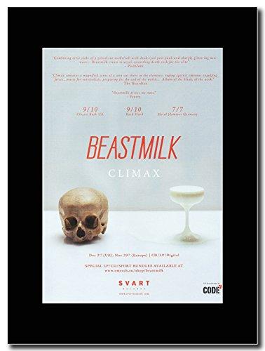 Beastmilk-Climax Magazine promo su una montatura nero