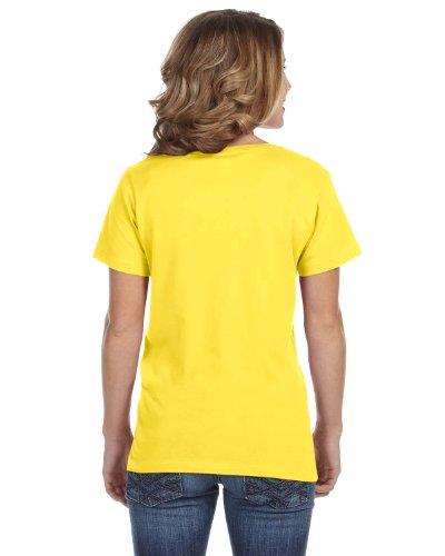 Anvil Damen T-Shirt mit V-Ausschnitt Zitrone