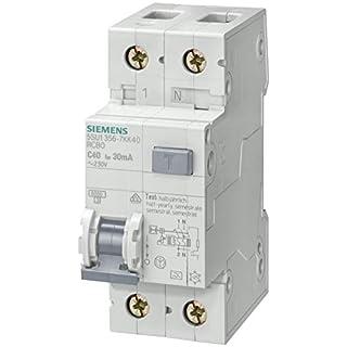 Siemens Indus.Sector FI/LS-Schutzeinrichtung 5SU1356-6KK16 B,16A,1+N,30mA,6kA SENTRON Kombination FI-Schalter/Leitungsschutzschalter 4001869306728
