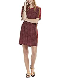 Scotch & Soda Maison Silky Feel Dress with Placement Prints and Tie Detail, Robe Femme