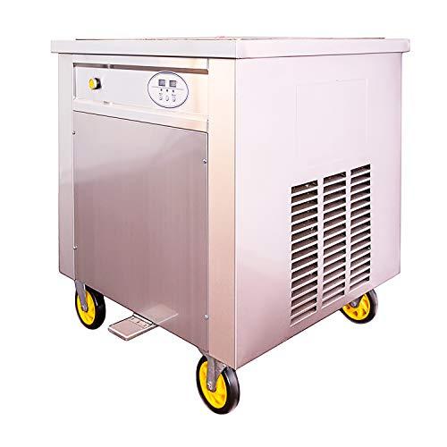 Professionelle Softeismaschine für Roll Eis Eismaschine mit Kompressor und Gefrierplatte 60x60cm