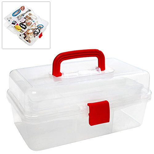 MyGift chiaro Multi Vassoi Craft Supply Case/Primo
