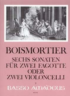 6 SONATEN OP 14 - arrangiert für zwei Fagotte - (Violoncello) [Noten / Sheetmusic] Komponist: BOISMORTIER JOSEPH BODIN DE