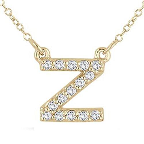 Silvernshine Jewels 1/10 Ct D/VVS1 Diamant 14k Gold Fn Silber