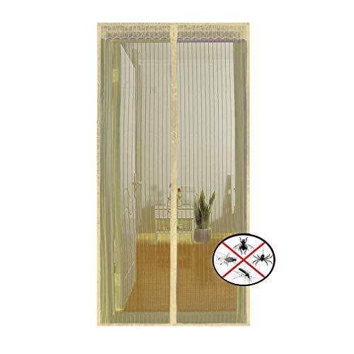 Tenda zanzariera magnetica per porte, tenda a rete con schermo, adatto per porte in lega di alluminio/porte in legno/qualsiasi telaio per porte (con rotolo di velcro)