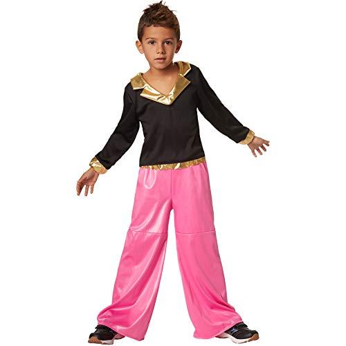 Jungenkostüm Disco Dancer, Farbenprächtiges, zweiteiliges Disco-Outfit (116 | Nr. 302382) ()