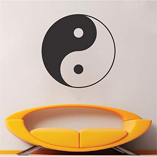 jiushizq Yin Yang Aufkleber Aufkleber Wohnzimmer Dekoration Abnehmbare Wandtattoos Benutzerdefinierte Farbe Erhältlich Vinyl Wandaufkleber Kunstwand Z 42x42 cm
