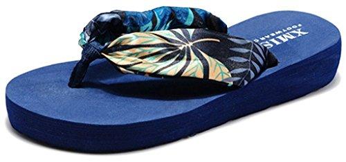la-vogue-damen-sommer-zehentrenner-plateau-pantoletten-blau-eu39-fusslange245cm
