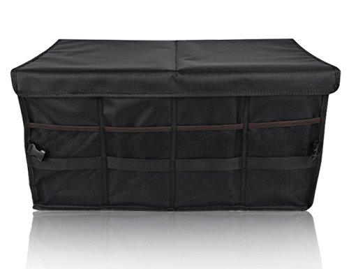 Preisvergleich Produktbild BMZX Auto Home Office Organizer Fächer faltbar Staubdicht Kutsche Trunk Container Langlebig Schrankkorb Aufbewahrung Fall für Reisen Urlaub Camping (schwarz)