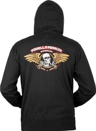 Powell Peralta Winged Ripper Kapuzen Sweatshirt Medium schwarz (Hoodie Herren Produzent)