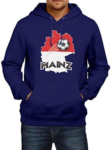 Mainz #2 Premium Hoodie | Fussball | Fan-Trikot | Die Macht in Deutschland | Herren | Kapuzenpullover, Farbe:Dunkelblau;Größe:XL (Bell Fußball-trikot)