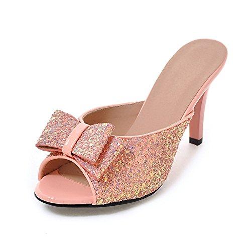 Version coréenne des sandales d'été/Sequin arc talons/Chaussures E