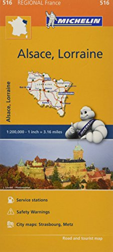 Mapa Regional Alsace, Lorraine (Carte regionali) por Vv.Aa
