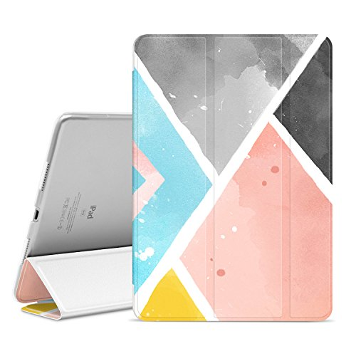 Hülle,Slim Auto Wake/Sleep Smart Stand Protective Cover Case with Translucent Frosted Back Magnetic Cover paraApple iPad Pro 10.5 Inch 2017 Release Tablet-The Multicolor-01 ()
