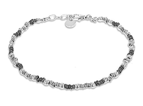 Tuscany Silver Bracciale Unisex in Argento Sterling 925, 21.5 cm