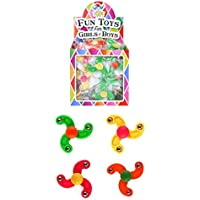 12 x Mini Finger Spiners Kids Party Bag Fillers Pinata Toys Assorted Colours