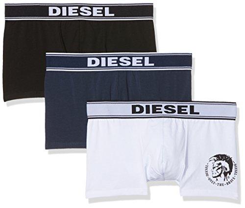 Diesel Herren UMBX-shawnthreepack Boxershorts, Mehrfarbig (White/Blue/Black 02), X-Small (erPack 3