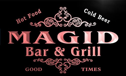u27796-r-magid-family-name-bar-grill-home-beer-food-neon-sign-barlicht-neonlicht-lichtwerbung
