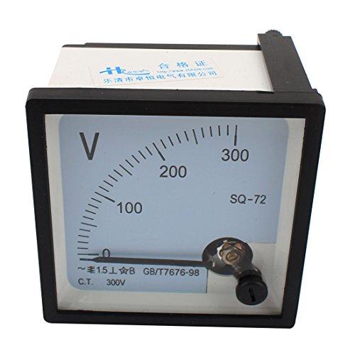 Preisvergleich Produktbild sourcingmap® sq-72Klasse 1,5AC 0-300V Analog quadratisch Voltmeter Panel Volt Meter