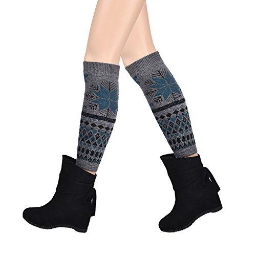 motif-de-fleurs-longues-guetres-crochet-vintage-couleur-grise