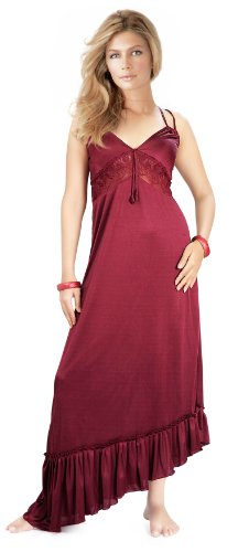 nightwear to fall in love with lucy's secret gorgeous 1 piece sexy full length gown. .  available at amazon for Rs.349