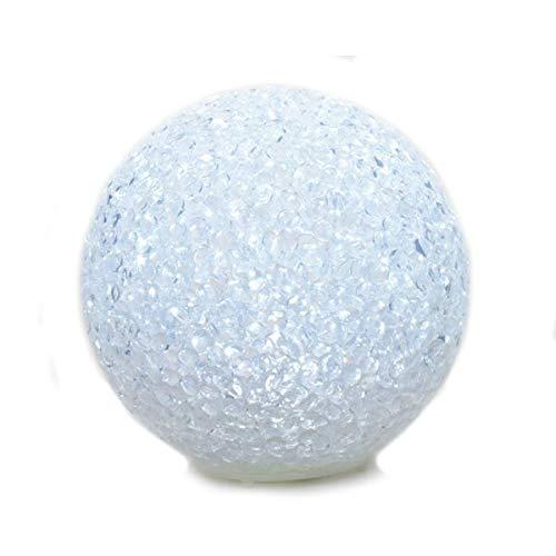 Schnee-Kugel in weiss mit LED kaltweiss Durchmesser 10 cm -