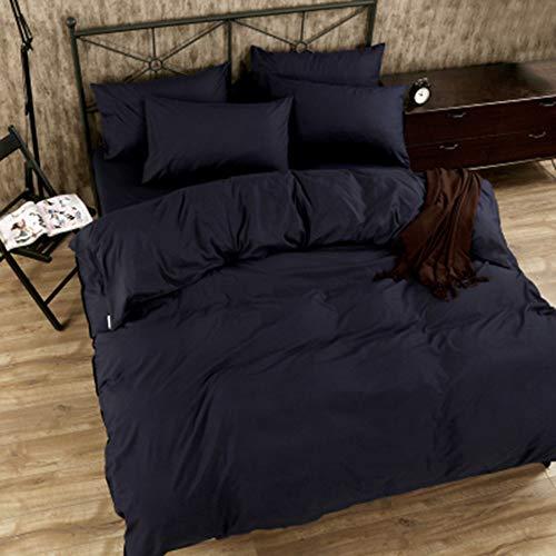 YJJSL Baumwolle-Bettwäsche-Set, Student Schlafzimmer einfache Mode Bettbezug-Set, einfarbige Bettbezug Set-abnehmbare 3/4 Pices (Farbe : A) -