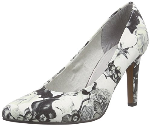 s.Oliver 22427, Damen Pumps, Schwarz (BLACK FLOWER 026), 39 EU (6 Damen UK)