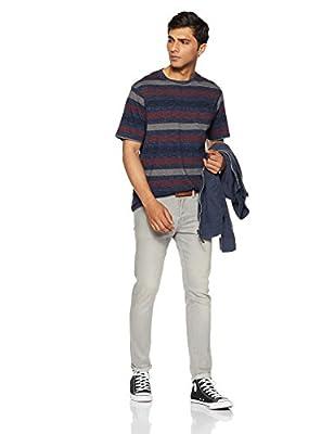 Marks & Spencer Men's Striped Slim Fit T-Shirt