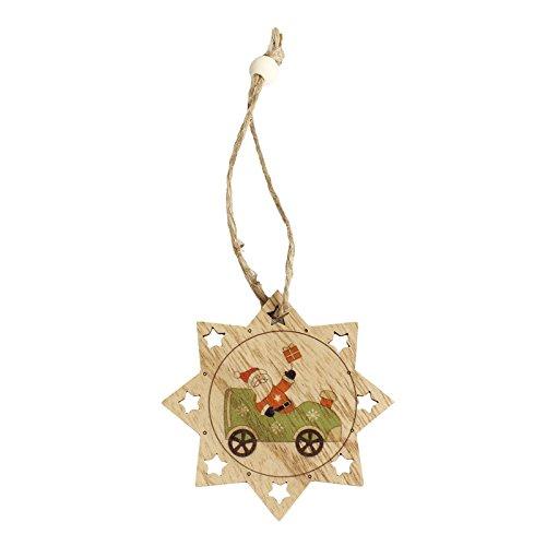(Christmas Ornaments, Holz zum Aufhängen Decor Weihnachtsbaum Ornament)